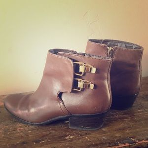 Sam Edelman Marmont Brown Leather Booties Ask 7